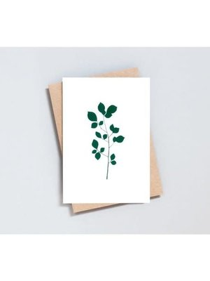 Ola Foil Blocked Card Botanical Collection - Cherry Print in Ivory/Green