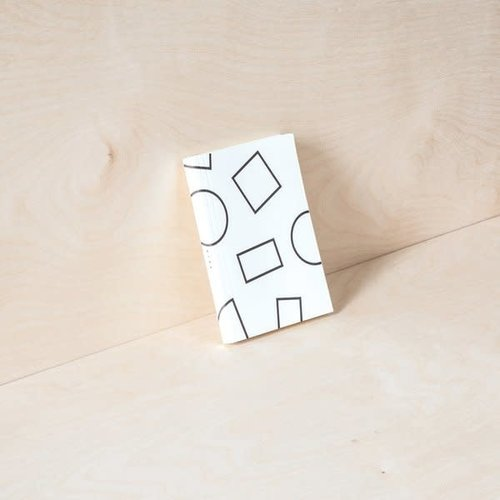 Ola Pocket Weekly Planner, Shapes Print in Black and White