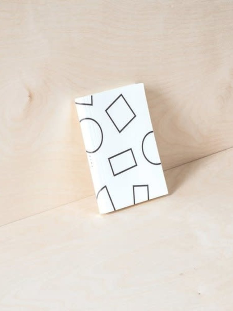 Ola Ola Pocket Weekly Planner, Shapes Print in Black and White