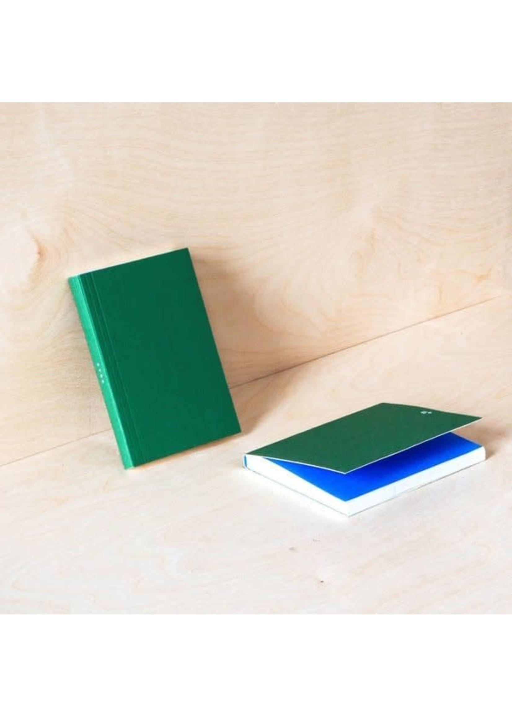 Ola Ola Pocket Layflat Weekly Planner in Green/Blue