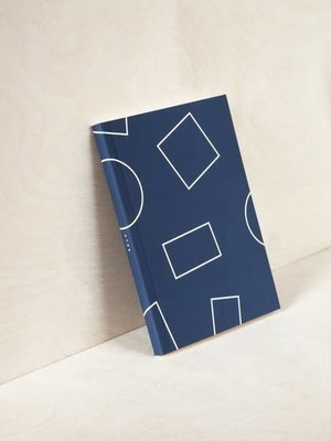 Ola Layflat Weekly Planner in Navy Shapes - Calendar Insert: 2020/21