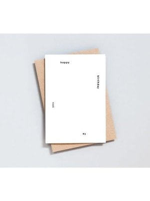 Ola Ola Foil Blocked Cards: Happy Birthday To You Print in Natural/Black