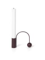 ferm LIVING Balance Candle Holder - Dark Aubergine