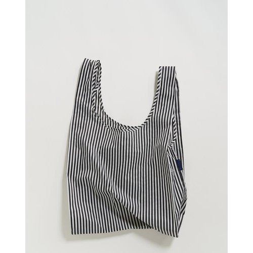 Baggu Standard Reusable Bag - Black and White Stripe