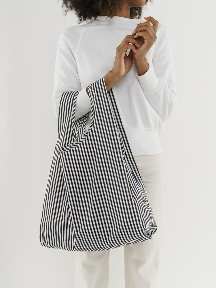 Baggu Baggu Standard Reusable Bag - Black and White Stripe