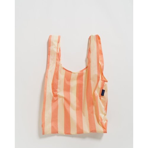 Baggu Standard Reusable Bag - Washed Brick Stripe