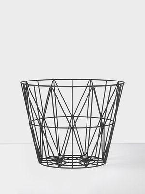 ferm LIVING Wire Basket Black Small
