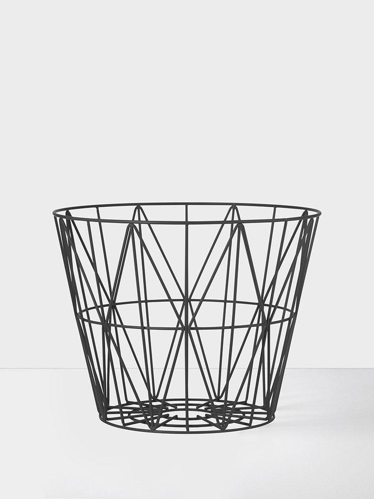 ferm LIVING Ferm Living Wire Basket Black Small