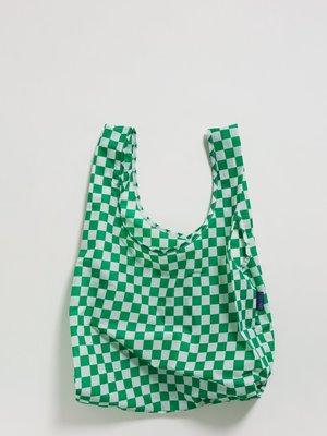 Baggu Baggu Standard Reusable Bag - Green Checkerboard