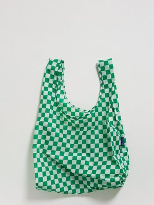 Baggu Standard Reusable Bag - Green Checkerboard
