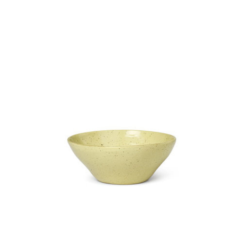 ferm LIVING Flow Bowl - Medium - Yellow speckle