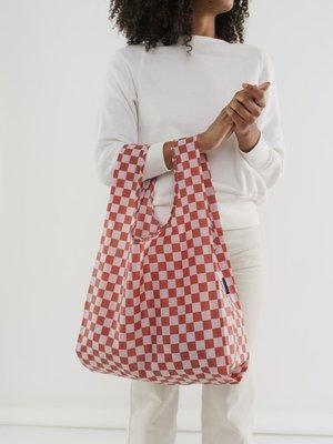Baggu Baggu Standard Reusable Bag - Rose Checkerboard
