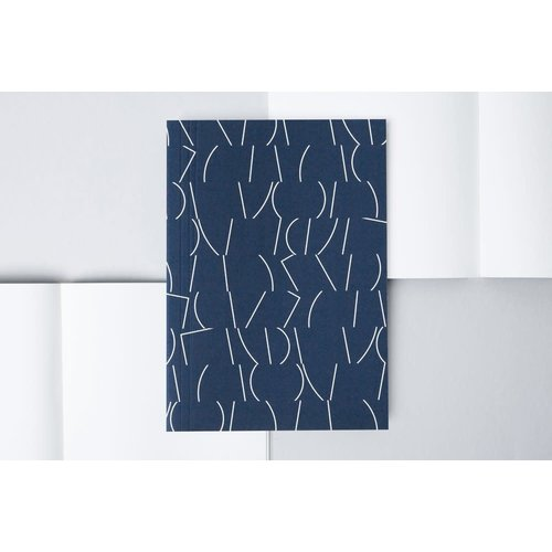 Ola Medium Layflat Notebook - Sol Print in Navy/Ruled Pages