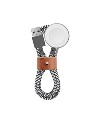 Native Union Belt Cable 1.2m - Apple Watch Charging Base - Zebra