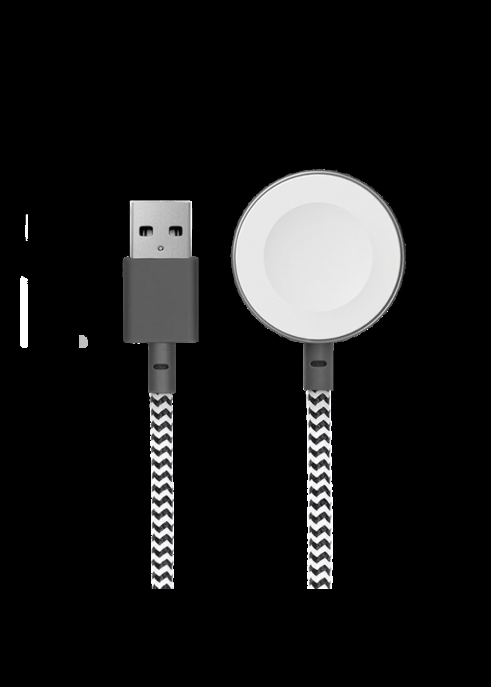 Native Union Native Union Belt Cable 1.2m - Apple Watch Charging Base - Zebra