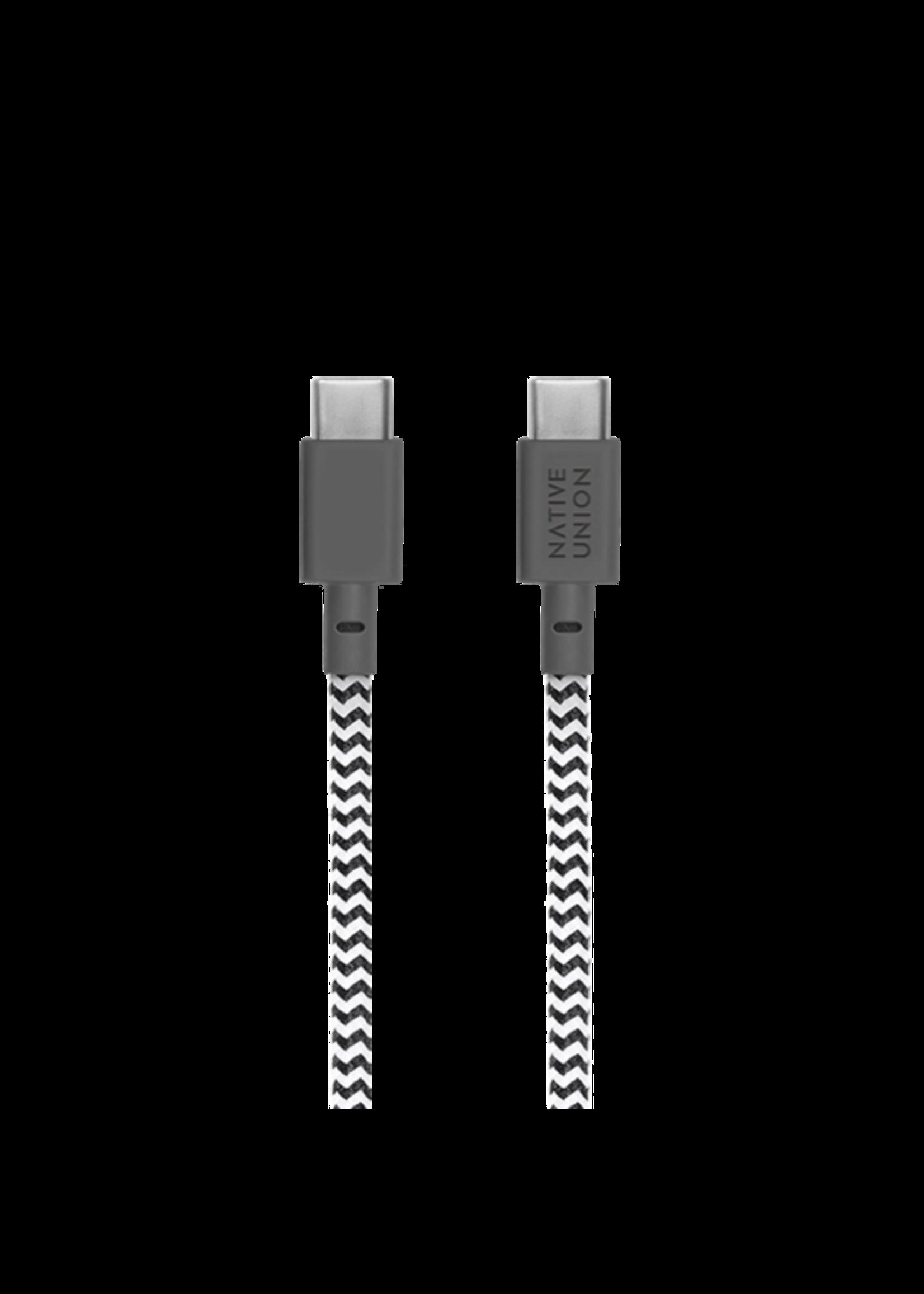 Native Union Native Union Belt Cable 1.2m - USB-C - USB-C - Zebra