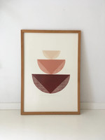 Bcntku Art Studio Oy Terracotta Shades. Study of balance with inner triangles Print