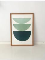 Bcntku Art Studio Oy Green gradient. Study of shape and colour Print