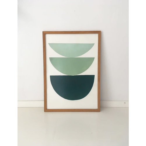Bcntku Art Studio Oy Green gradient. Study of shape and colour Print