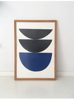 Bcntku Art Studio Oy Process blue. Study of shape and colour Print