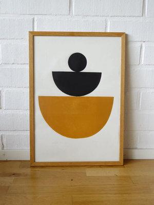 Bcntku Art Studio Oy Ocre Jaune. Study of shape and colour Print