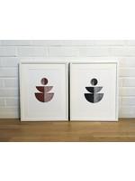 Bcntku Art Studio Oy Study of balance with opposite lines. Black/Siena - Black Print