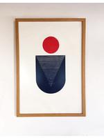 Bcntku Art Studio Oy Red Moon. Study of balance with circles Print