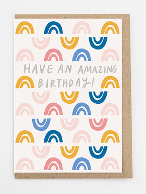 Alison Hardcastle Arch Amazing Birthday Card