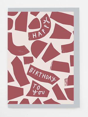 Alison Hardcastle Birthday Collage Card