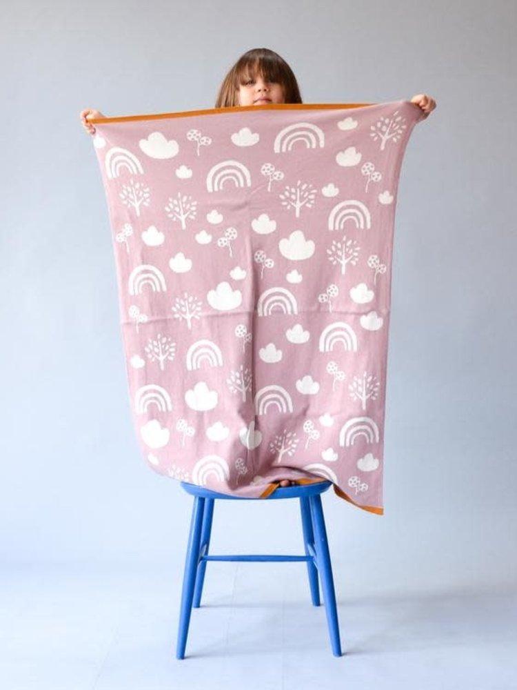 Sophie Home Sophie Home Rainbow Pink Blanket