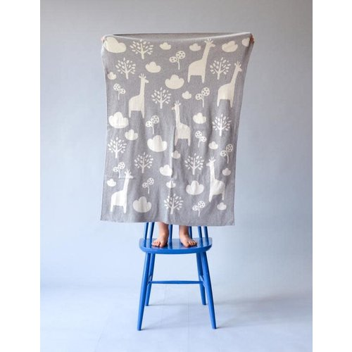 Sophie Home Giraffe Grey Blanket