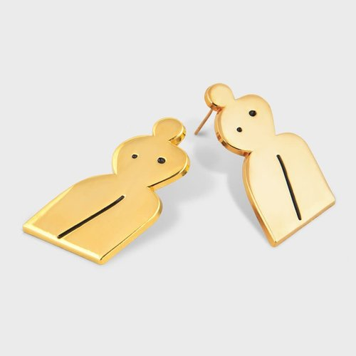 Milk Tooth Woman Studs - Gold