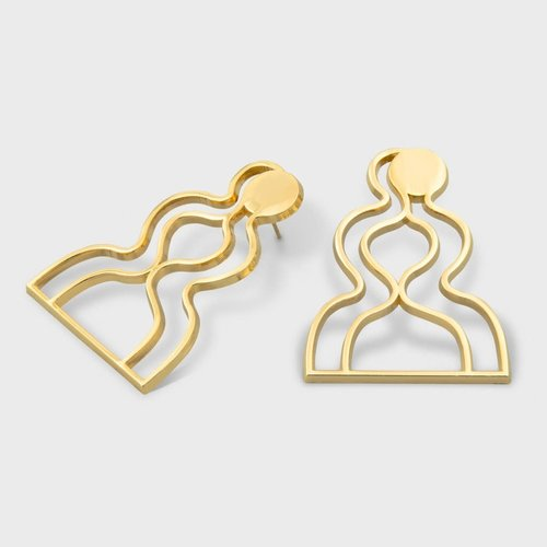 Milk Tooth Lovers Studs - Gold