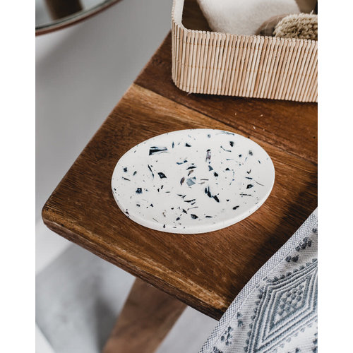 Badger & Birch Oval Soap Dish - Mussel Shell Terrazzo