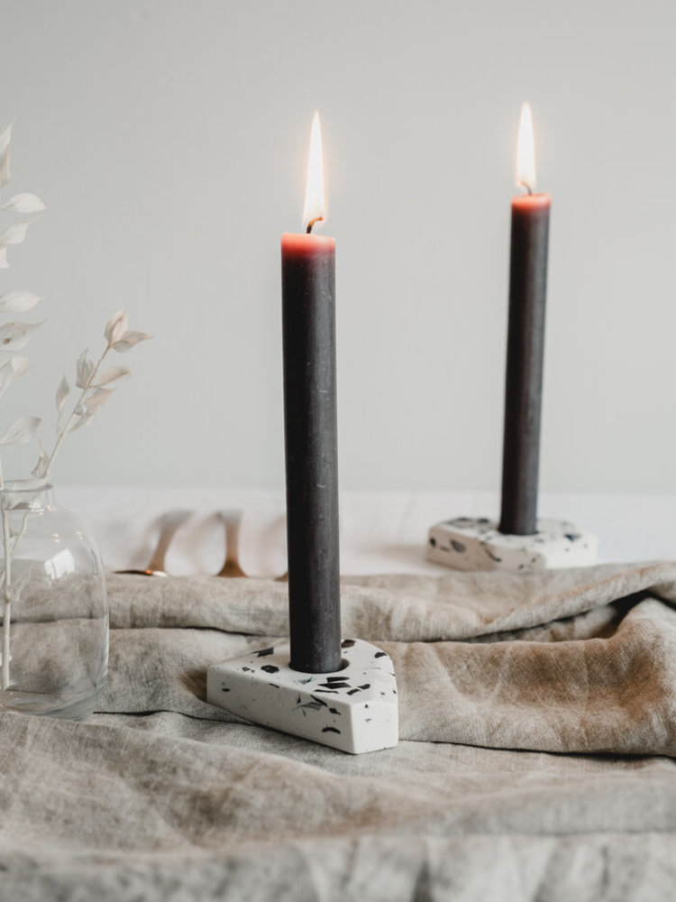 Badger & Birch Badger & Birch Dinner Candle Holder - Speckle Terrazzo