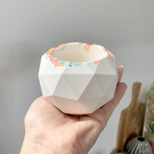 Badger & Birch Neon Eco Resin Rim Geometric Pot