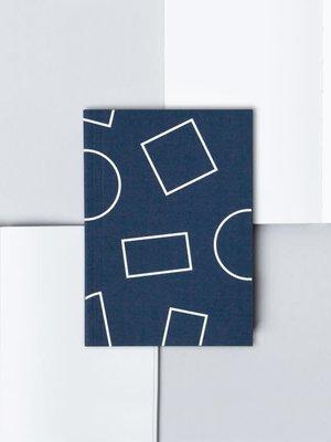 Ola Pocket Layflat Weekly Planner, Shapes Print in Navy