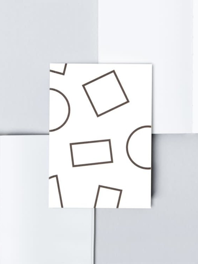 Ola Ola Pocket Layflat Weekly Planner, Shapes Print in Black and White