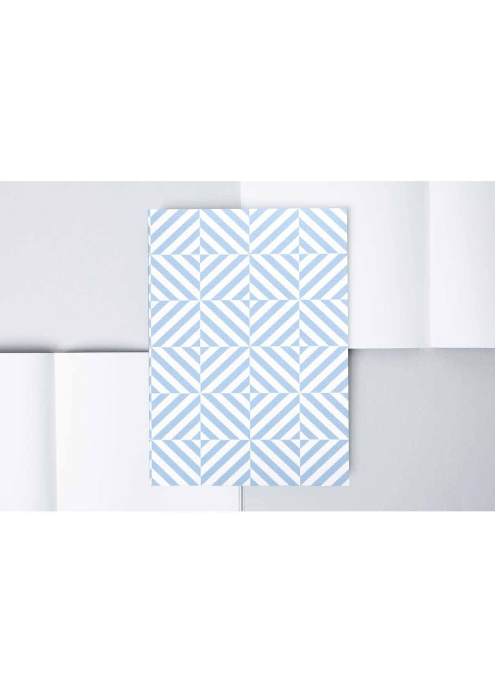 Ola Ola Medium Layflat Notebook - Alma Print in Salvia Blue/Plain Pages