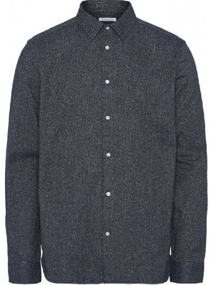 KnowledgeCotton Larch Brushed Shirt - 2 Colours