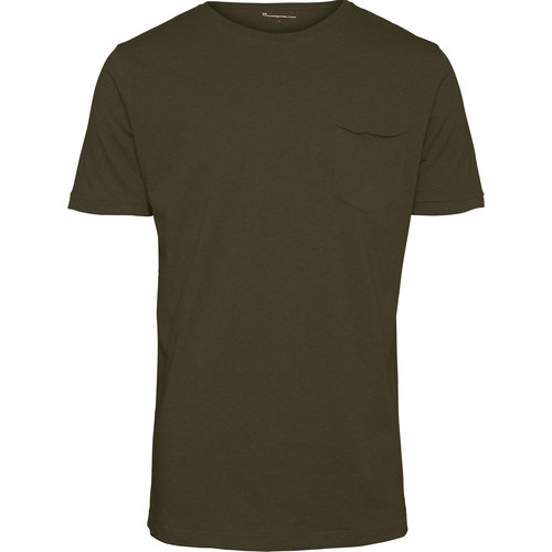 KnowledgeCotton Alder Basic Chest Pocket T-shirt
