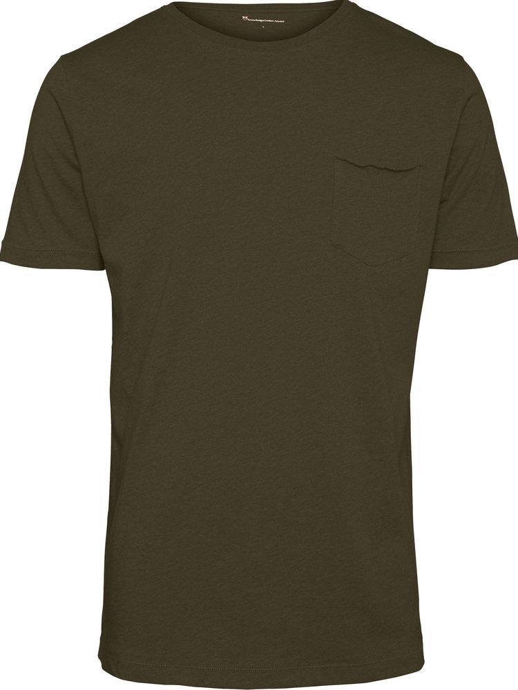 KnowledgeCotton KnowledgeCotton Alder Basic Chest Pocket T-shirt