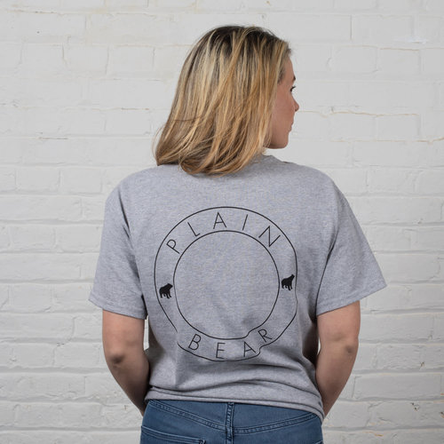 Plain Bear DS t-shirt in grey