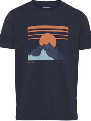 KnowledgeCotton ALDER heavy tee mountain print