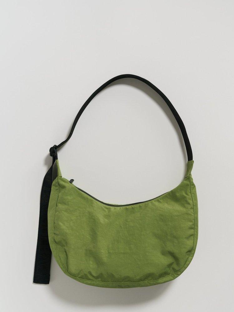 Baggu Baggu Medium Nylon Crescent Bag - Green Apple