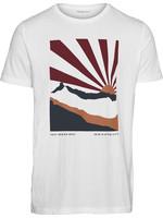 KnowledgeCotton ALDER heavy White tee mountain print
