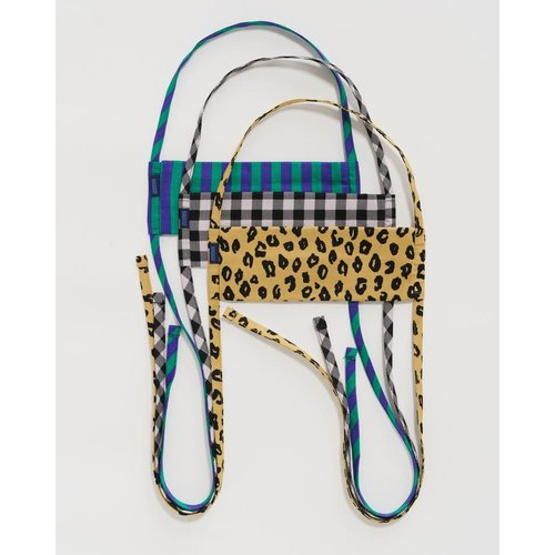 Baggu fabric Tie mask set - Gingham, Leopard and Stripes