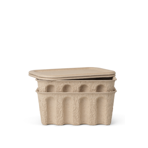ferm LIVING Paper Pulp Box small - set of 2