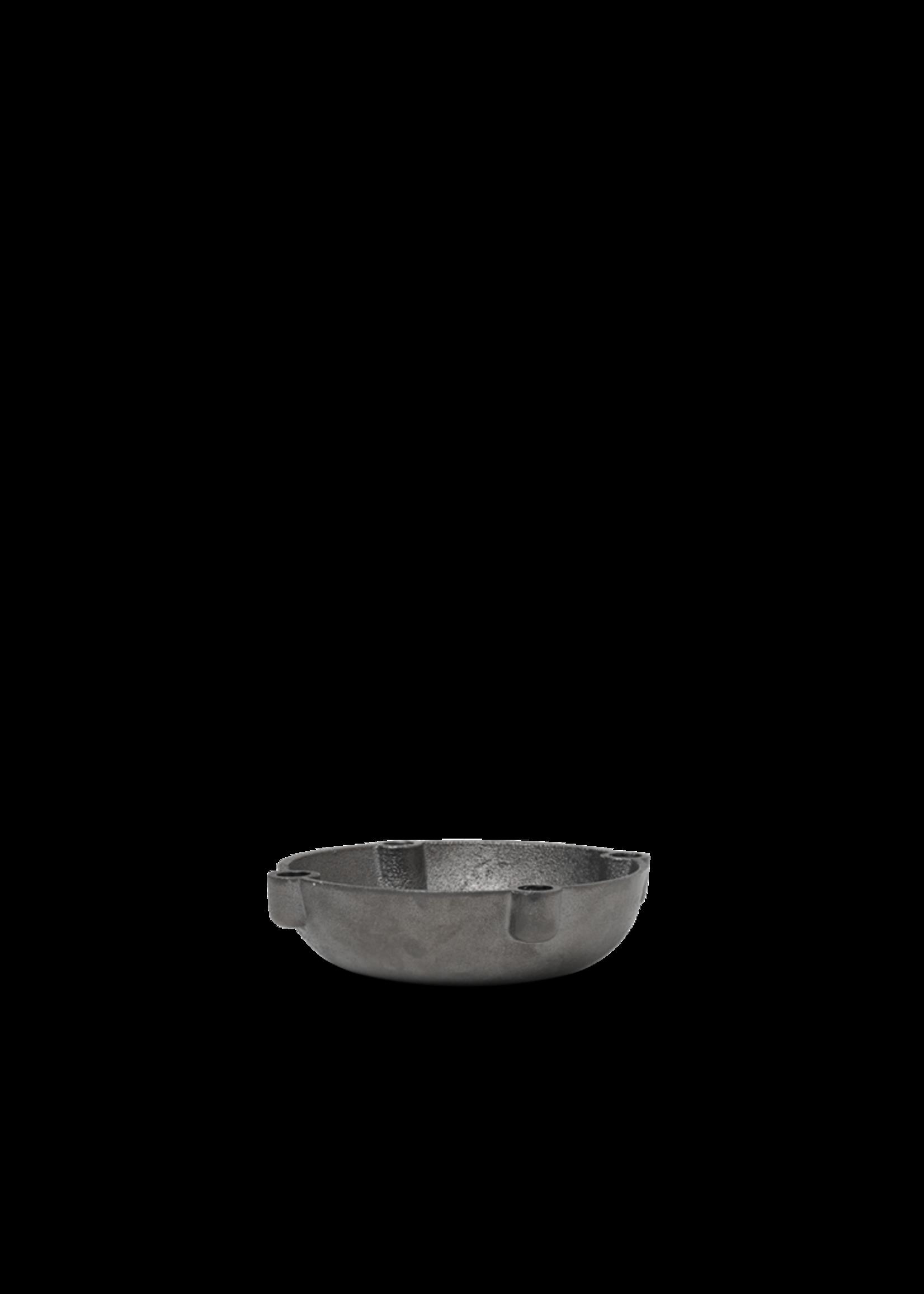 ferm LIVING Ferm Living Bowl Candle Holder - Black Brass - Small