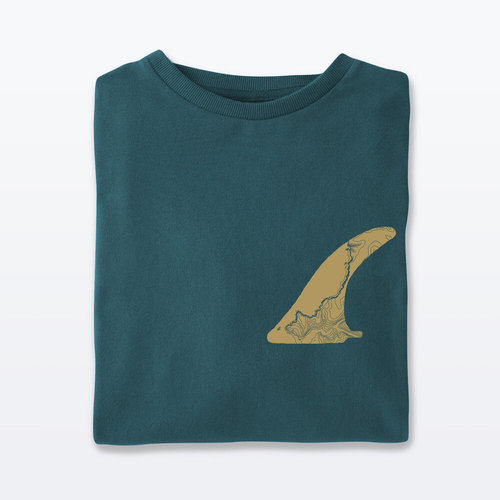 The Level Collective FIN T-shirt Teal